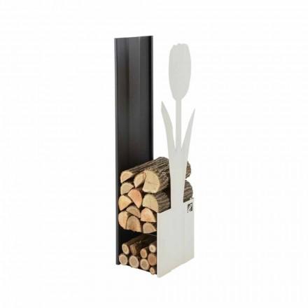 Moderne indendørs træstammeholder lavet i Italien - Maestrale2