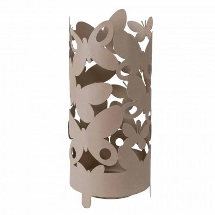 Designparaplystativ med jern sommerfugle fremstillet i Italien - Maura