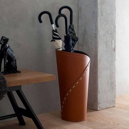 Moderne paraply står i regenereret Katrina læder, lavet i Italien