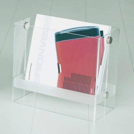 Magazine af moderne design i klar methacrylat Tanko