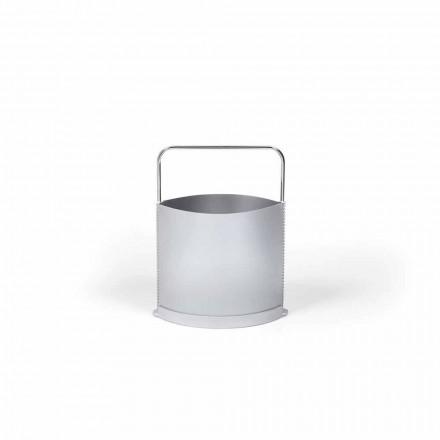 Magazine rack moderne polypropylen i grå og opal Gino