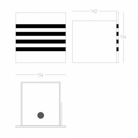 Badeværelsesrulleholder i hvid Corian eller med sorte indsatser italiensk design - Elono