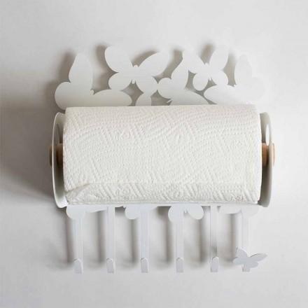 Designvægspapirholder i ædelstrygejern fremstillet i Italien - Leiden