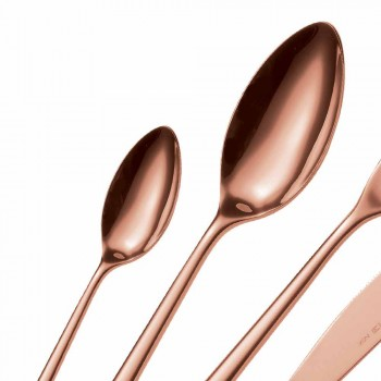 24 stykker luksuspoleret eller sandblæst farvet rustfrit stålbestik - lapis
