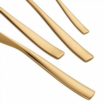 24 stykke luksusdesignbestik i sandblæst eller farvet poleret stål - tåget