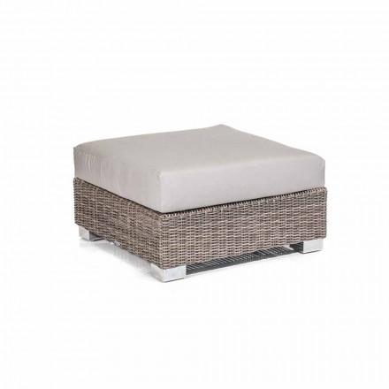 Puf moderne ydre i grå-taupe Jaco polyethylen, håndlavet