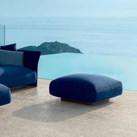 Cliff Talenti moderne udendørs puf i stof, design Palomba