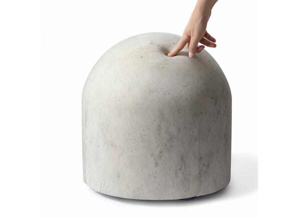 Blød designpuff dækket i fremstillet i Italien Stof - Rock
