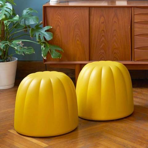 Blødfarvet pouf Slide Gelee i polyurethan lavet i Italien