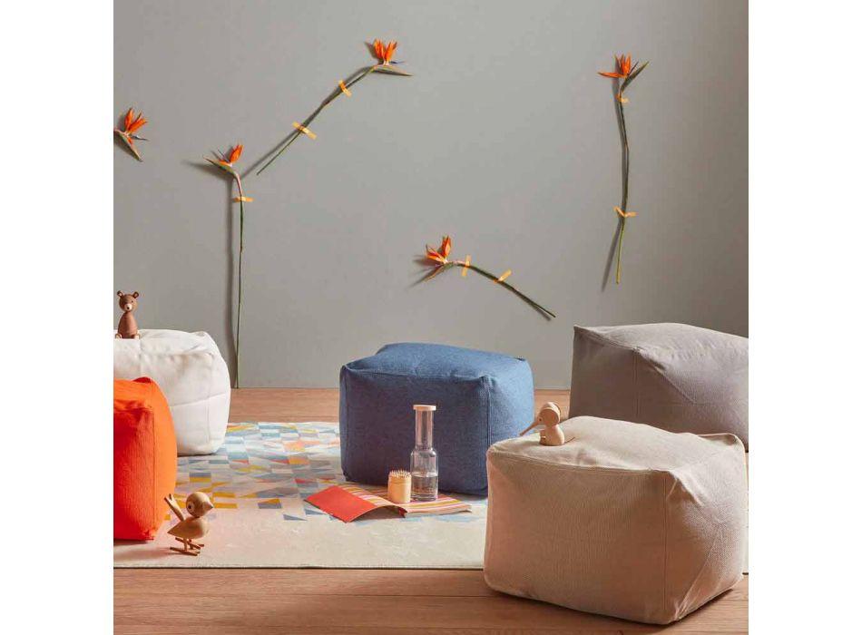 Blød firkantet indendørs og udendørs puf i forskellige farver - Naemi