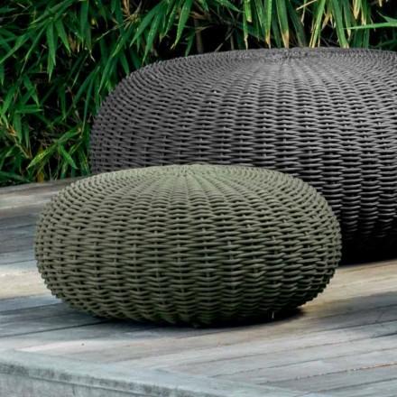 Lille og rund puff Jackie fra Talenti moderne design til haven