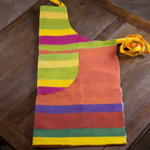 Ædel-håndmalet hamp-håndlavet forklæde fremstillet i Italien - mærker