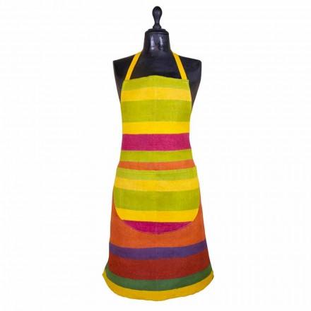 Ædelt håndværksforklæde i hamp håndmalet fremstillet i Italien - Viadurini af Marchi