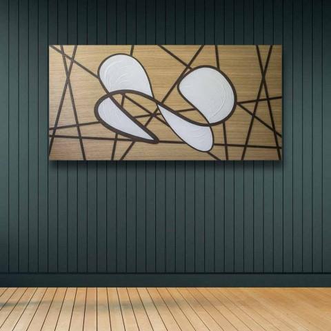 120x60 ramme i eg og hvid krop bearbejdet af hånd- og basreliefs - Sambuca