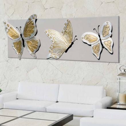 Moderne billede med tre prægede sommerfugle dekoreret med hånden Stephen