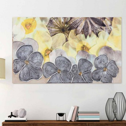 Moderne blomsterramme med hånddekorerede Ramos kronblade