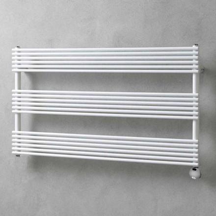 Vandret elektrisk design vægradiator i stål op til 700 W - Nibbio