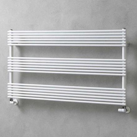Vandret kølerhåndklædevarmer i ståldesign 750 W - Nibbio