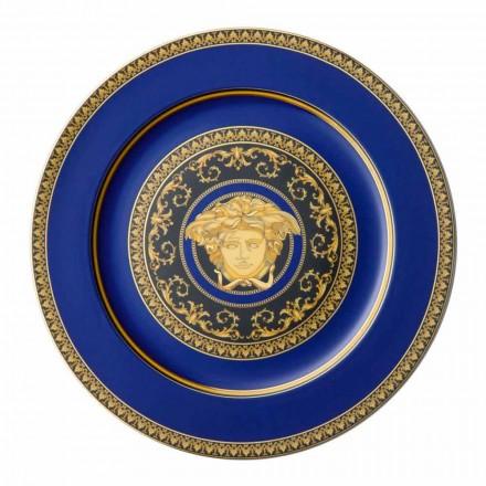 Rosenthal Versace Medusa Blue Plate porcelæn design pladsholder