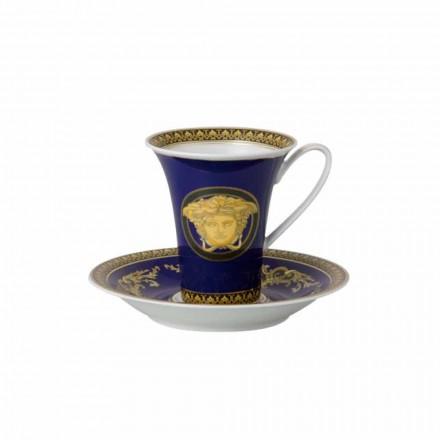 Rosenthal Versace Medusa Blå Cup høj porcelæn design Kaffe