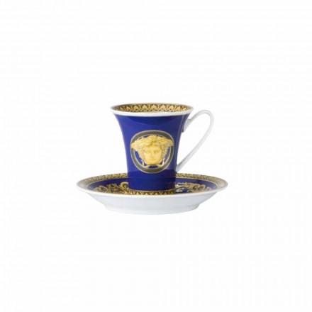 Rosenthal Versace Medusa Blå kop designer kaffe porcelæn