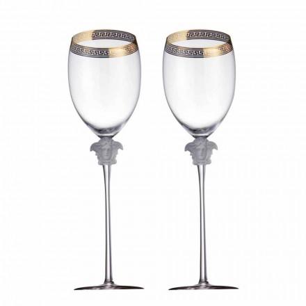 Rosenthal Versace Medusa D'Or 4 kopper vand i krystal design