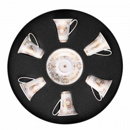 Rosenthal Versace Medusa Gala Gold sæt 6PZ porcelæn espressokopper