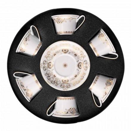 Rosenthal Versace Medusa Gala Cups porcelæn te 6 stykker