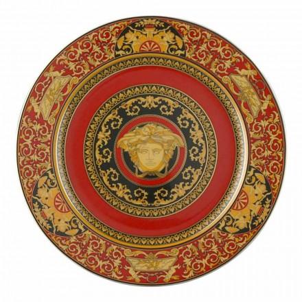 Rosenthal Versace Medusa Red Plate pladsholder 30cm porcelæn