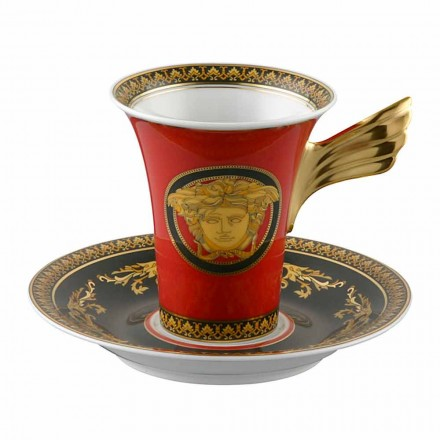 Rosenthal Versace Medusa Red Cup Coffee High Porcelæn Design