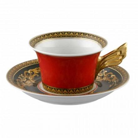 Rosenthal Versace Medusa Red Cup moderne design porcelæn te