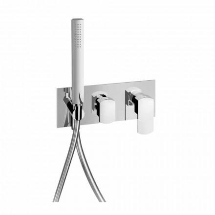 Design Bruserarmatur med 3-vejs omskifter Made in Italy - Sika