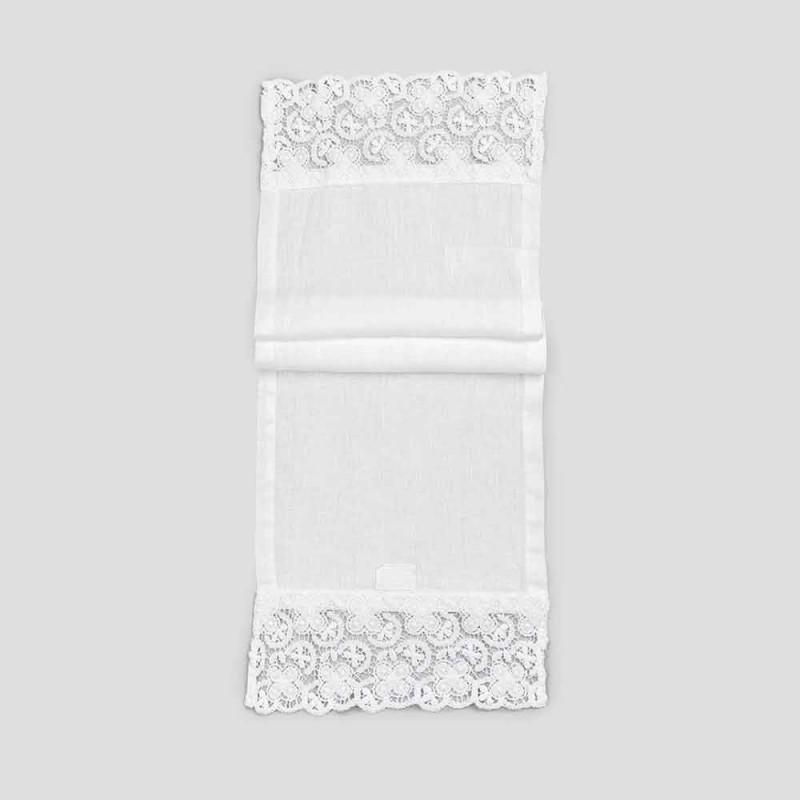 Bordløber 100% linned med luksuriøs hvid blonde fremstillet i Italien - Triumph