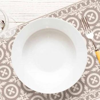 Beige eller blå mønstrede bordløber i Pvc og moderne polyester - Bondo