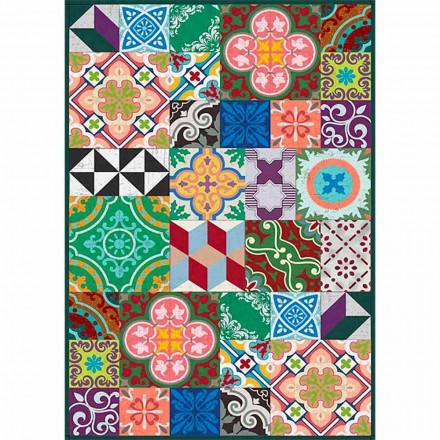 Farverigt design bordløber i pvc og polyester med fantasy - Timio
