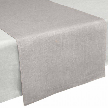Bordløber i rent naturligt linned 50x150 cm Fremstillet i Italien - valmue