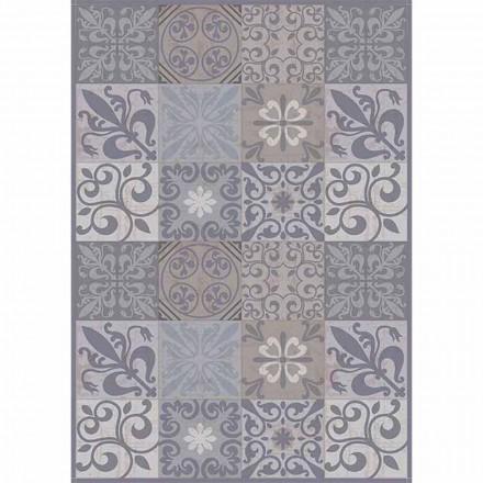 Moderne grå eller sort mønstret bordløber i PVC og polyester - pitamasse
