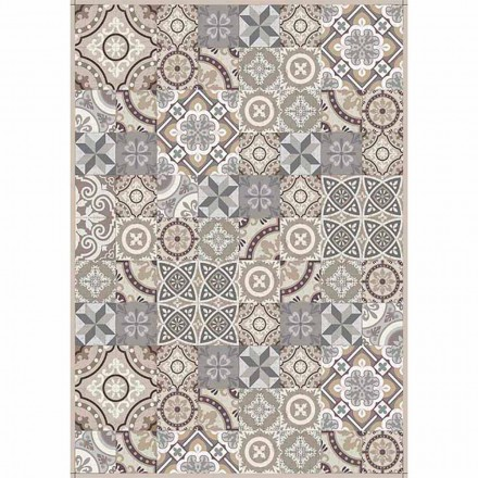Mønstret bordløber i Pvc og moderne polyester - Malia