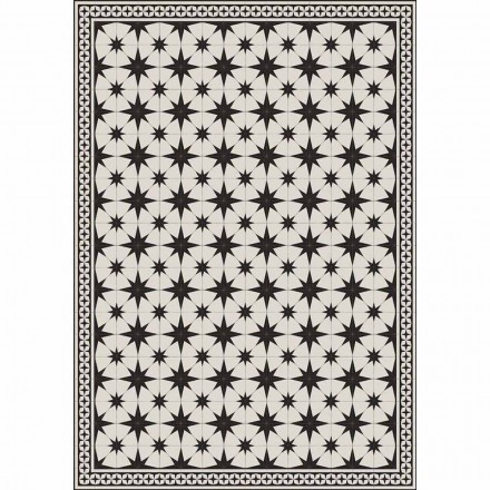 Design bordløber i rektangulær mønster i pvc og polyester - Osturio