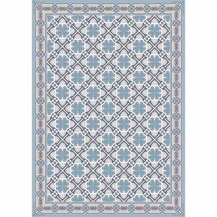Mønstret design bordløber med rød eller moderne blå base - Petunia
