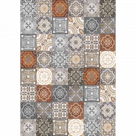 Vintage rektangulær design Pvc og polyester bordløber - Dimetra