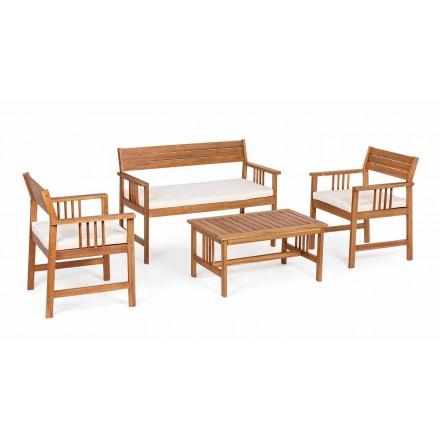 Lounge 4 Komplementar i design af havetræ i Acacia Wood-Roxen