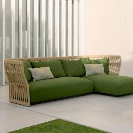 Cliff Talenti udendørs lounge med sofa og sofaborde, design Palomba