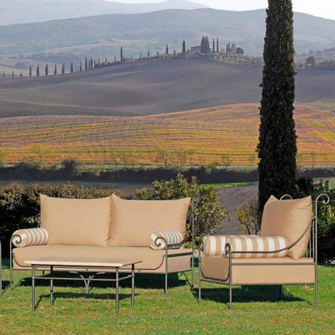 Artisan Garden Lounge med jernkonstruktion fremstillet i Italien - Lisotto