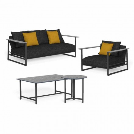Luxury Garden Lounge i aluminium, stentøj og stof - Riviera af Talenti
