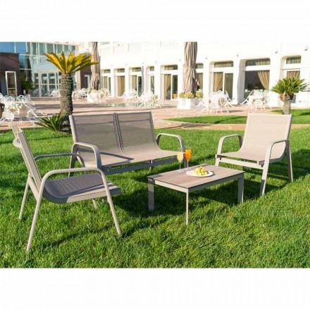 Have Lounge i aluminium, lærred og dyrebar HPL fremstillet i Italien - Atollo