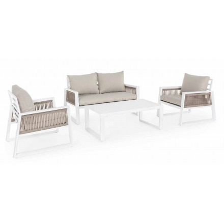 Garden Lounge i hvidt eller sort designaluminium - regnbruser