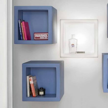 Cube farvet hylde Slide Open Cube moderne design lavet i Italien