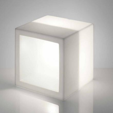 Cube lysende hylde Slide Open Cube moderne design lavet i Italien