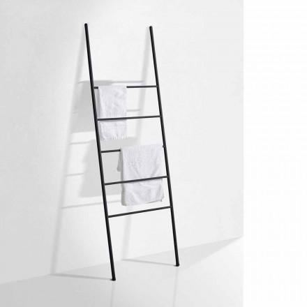 Håndklædesstiger i moderne design i hvidt eller sort metal - Oppalà
